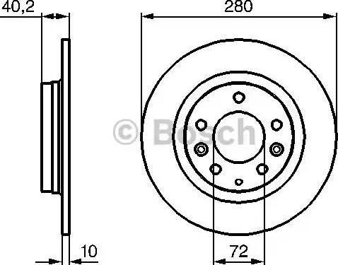BOSCH 0 986 479 131 - Тормозной диск sparts.com.ua