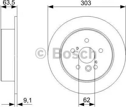 BOSCH 0 986 479 338 - Тормозной диск sparts.com.ua