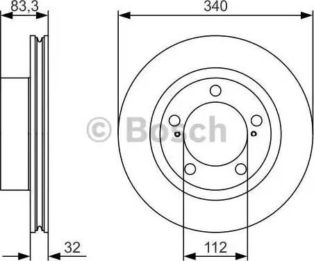BOSCH 0 986 479 R29 - Тормозной диск sparts.com.ua
