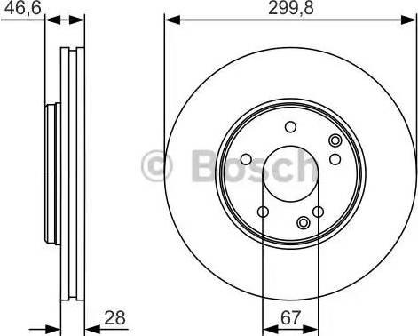 BOSCH 0 986 479 R79 - Тормозной диск sparts.com.ua