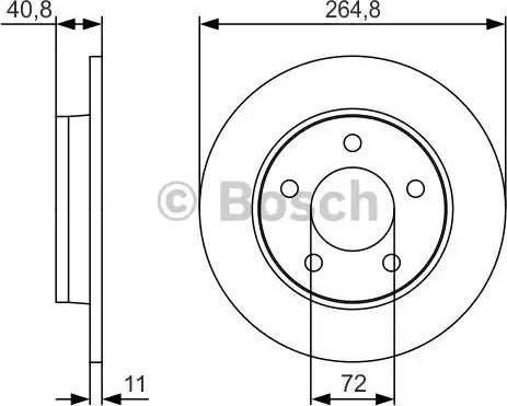 BOSCH 0 986 479 S50 - Тормозной диск sparts.com.ua