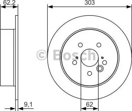 BOSCH 0 986 479 U28 - Тормозной диск sparts.com.ua