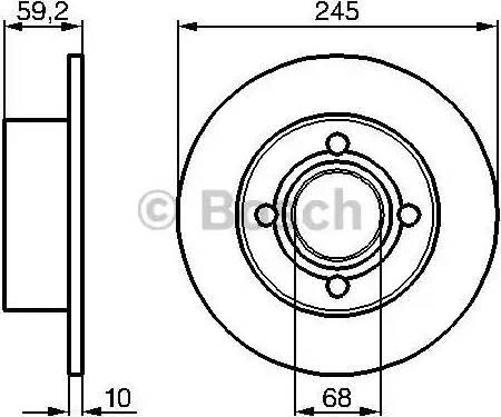 BOSCH 0 986 478 019 - Тормозной диск sparts.com.ua