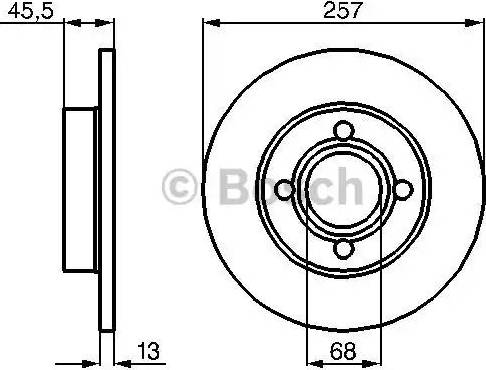 BOSCH 0 986 478 016 - Тормозной диск sparts.com.ua
