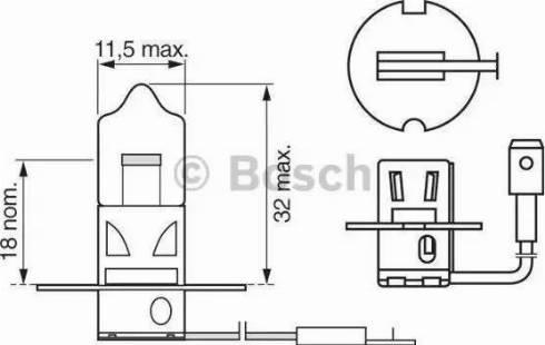 BOSCH 1987302031 - Лампа накаливания, противотуманная фара sparts.com.ua