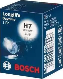 BOSCH 1987302078 - Лампа накаливания, противотуманная фара sparts.com.ua