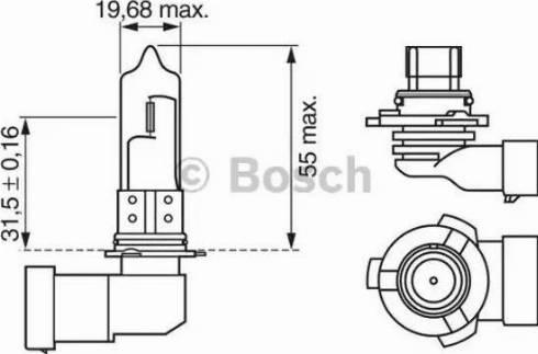 BOSCH 1987302152 - Лампа накаливания, противотуманная фара sparts.com.ua