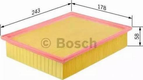 BOSCH 1 457 433 004 - Воздушный фильтр sparts.com.ua