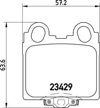 Brembo P 83 045 - Тормозные колодки, дисковые sparts.com.ua