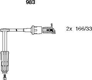 Bremi 983 - Комплект проводов зажигания sparts.com.ua
