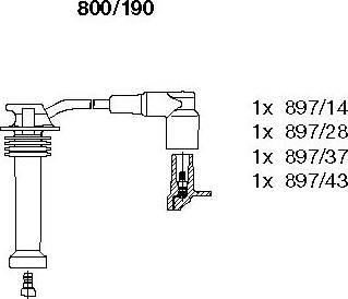 Bremi 800190 - Комплект проводов зажигания sparts.com.ua