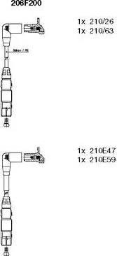 Bremi 206F200 - Комплект проводов зажигания sparts.com.ua