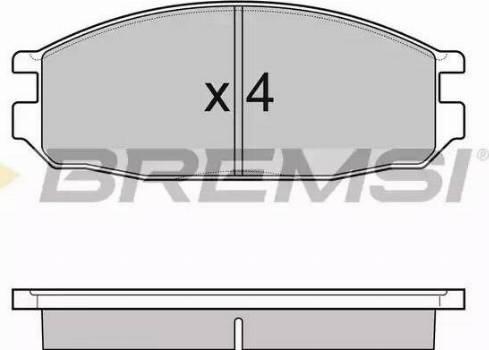 Bremsi BP3069 - Тормозные колодки, дисковые sparts.com.ua