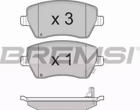 Bremsi BP3248 - Тормозные колодки, дисковые sparts.com.ua