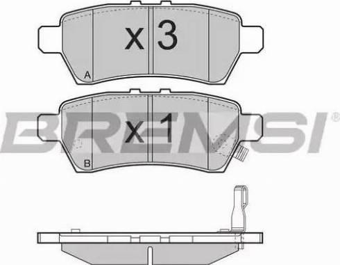 Bremsi BP3257 - Тормозные колодки, дисковые sparts.com.ua