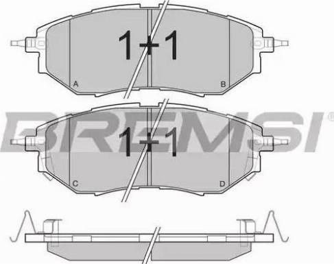 Bremsi BP3211 - Тормозные колодки, дисковые sparts.com.ua