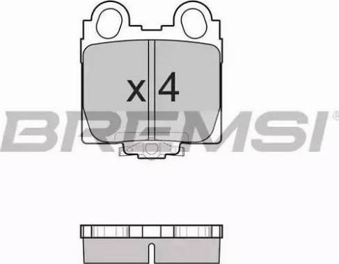 Bremsi BP2962 - Тормозные колодки, дисковые sparts.com.ua