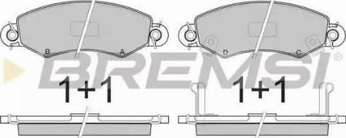 Bremsi BP2846 - Тормозные колодки, дисковые sparts.com.ua