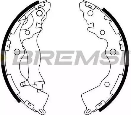 Bremsi GF0749 - Комплект тормозных башмаков, барабанные sparts.com.ua