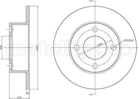 Cifam 800-185 - Тормозной диск sparts.com.ua