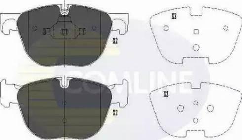 Comline CBP06003 - Тормозные колодки, дисковые sparts.com.ua