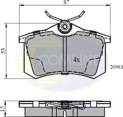 Comline CBP0108 - Тормозные колодки, дисковые sparts.com.ua