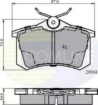 Comline CBP0797 - Тормозные колодки, дисковые sparts.com.ua
