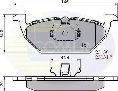Comline CBP0737 - Тормозные колодки, дисковые sparts.com.ua