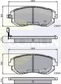 Comline CBP31208 - Тормозные колодки, дисковые sparts.com.ua