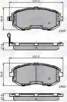 Comline CBP31760 - Тормозные колодки, дисковые sparts.com.ua