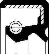 Corteco 19016571B - Уплотняющее кольцо, ступенчатая коробка передач sparts.com.ua