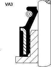 Corteco 19018203 - Уплотнительное кольцо, шток клапана sparts.com.ua