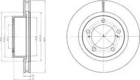 Delphi BG9067 - Тормозной диск sparts.com.ua