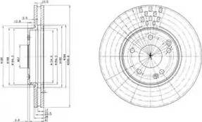 Delphi BG3396 - Тормозной диск sparts.com.ua