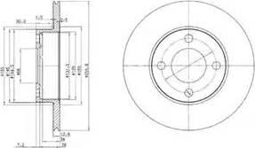 Delphi BG2215 - Тормозной диск sparts.com.ua