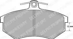 Delphi LP429 - Тормозные колодки, дисковые sparts.com.ua