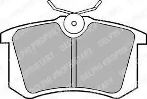 Delphi LP571 - Тормозные колодки, дисковые sparts.com.ua