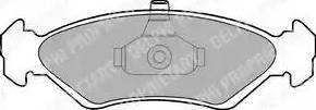 Delphi LP1603 - Тормозные колодки, дисковые sparts.com.ua