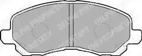 Delphi LP1684 - Тормозные колодки, дисковые sparts.com.ua