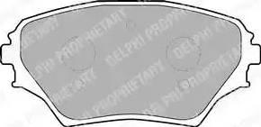 Delphi LP1632 - Тормозные колодки, дисковые sparts.com.ua