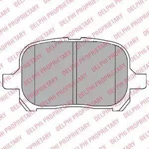 Delphi LP1144 - Тормозные колодки, дисковые sparts.com.ua