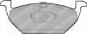 Delphi LP1104 - Тормозные колодки, дисковые sparts.com.ua