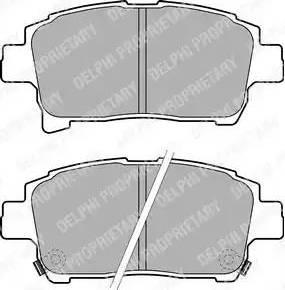 Delphi LP1896 - Тормозные колодки, дисковые sparts.com.ua