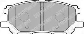 Delphi LP1823 - Тормозные колодки, дисковые sparts.com.ua