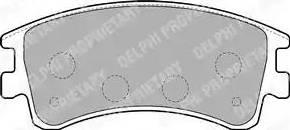 Delphi LP1799 - Тормозные колодки, дисковые sparts.com.ua