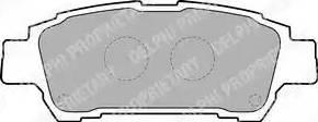 Delphi LP1710 - Тормозные колодки, дисковые sparts.com.ua