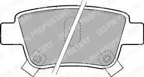 Delphi LP1785 - Тормозные колодки, дисковые sparts.com.ua