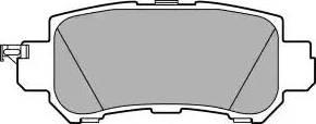 Delphi LP2482 - Тормозные колодки, дисковые sparts.com.ua