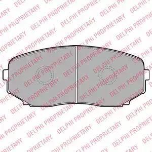 Delphi LP2098 - Тормозные колодки, дисковые sparts.com.ua