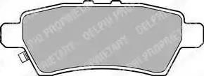Delphi LP2016 - Тормозные колодки, дисковые sparts.com.ua